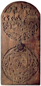 Valþjósstaðarhurðin frá um 1200 er varðveitt á Þjóðminjasafni Íslands. (Mynd: Þjóðminjasafnið).
